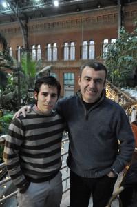 Lorenzo Silva y yo. Febrero,2010.